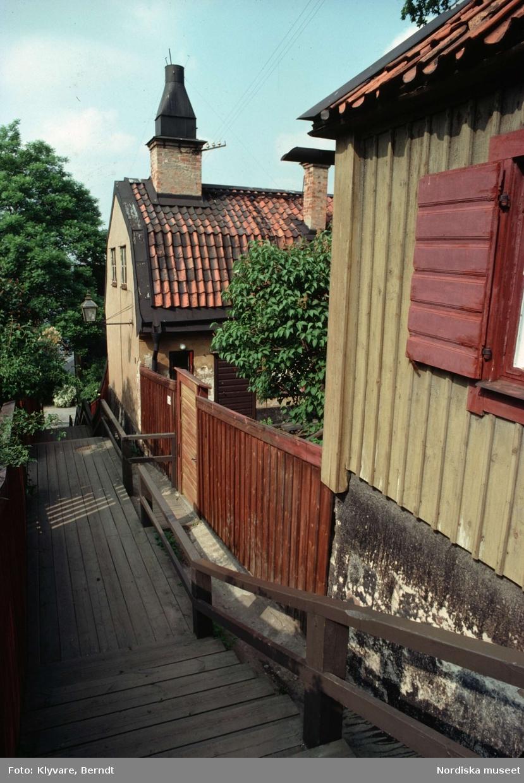 Trähus vid Klippgatan på Södermalm, Stockholm.
