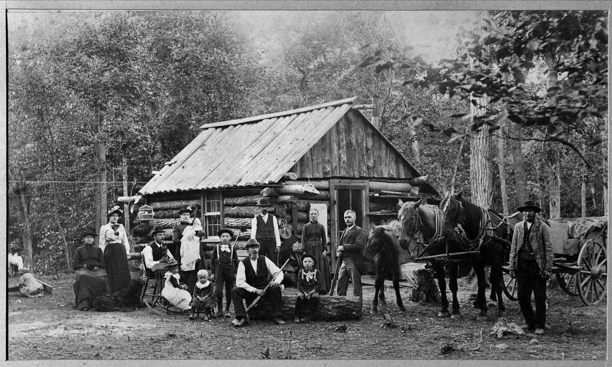 Emigration. Svenskar i Amerika. Olof Olsson från Nerikes Kil, utvandrade omkring 1880 till Rush City, Minnesota.