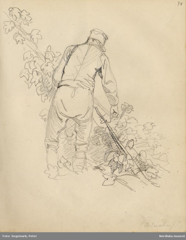 Ur skissbok av J. V. Wallander med inv. nr. 57.338.a. sid 78