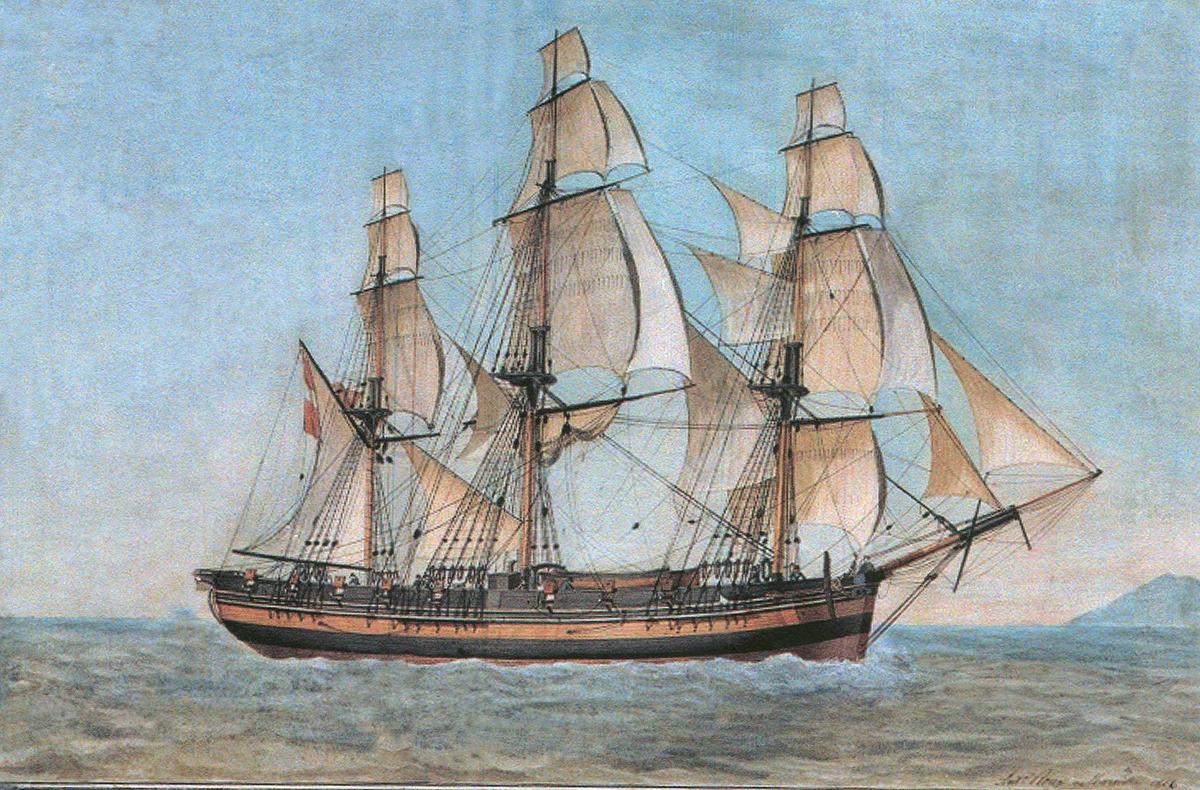 """Fartøybilder fra Agder  """"Diana av Flensburg"""", fregatt Kilde: Fartøybilder boks 19  Opprinnelig filreferanse i eDepoet: F0115-AUSTAGDER\DIANA FLENSBURG a"""
