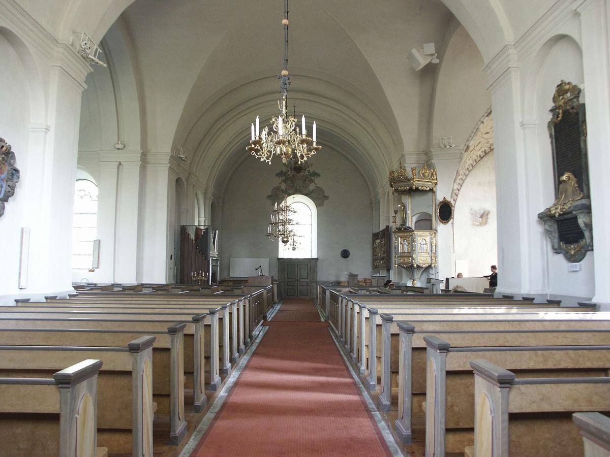 Interiör i Bälinge kyrka, Bälinge socken, Uppland augusti 2007