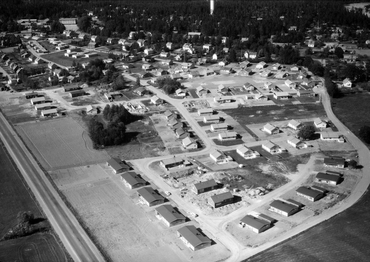 Flygfoto över Björklinge, Uppland 1966