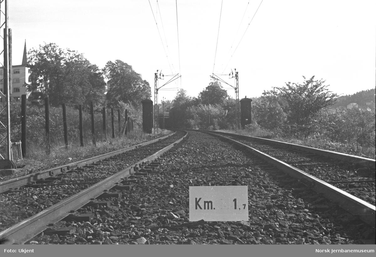 Hovedbanen : linjeføring km 1,7