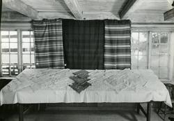 Tekstilutstilling på Hadeland Folkemuseum 1946