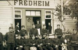 Samling på Fredheim soldathiem i Kristiansand.