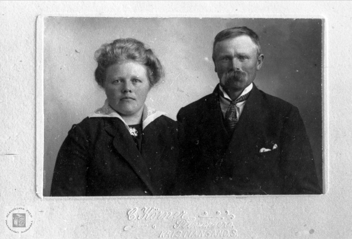 Ekteparet Anna Sørine og Nils Ask. Bjelland.