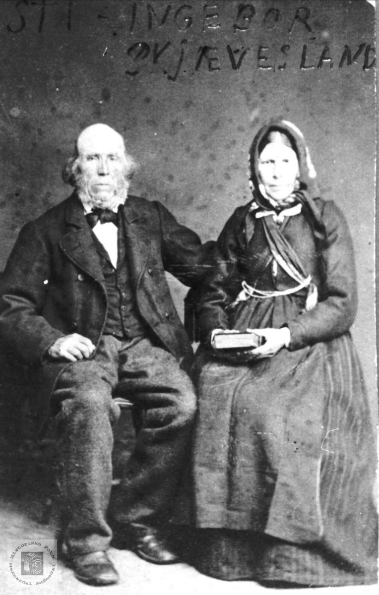 Portrett av Stig og Ingeborg Skjævesland, Øyslebø.