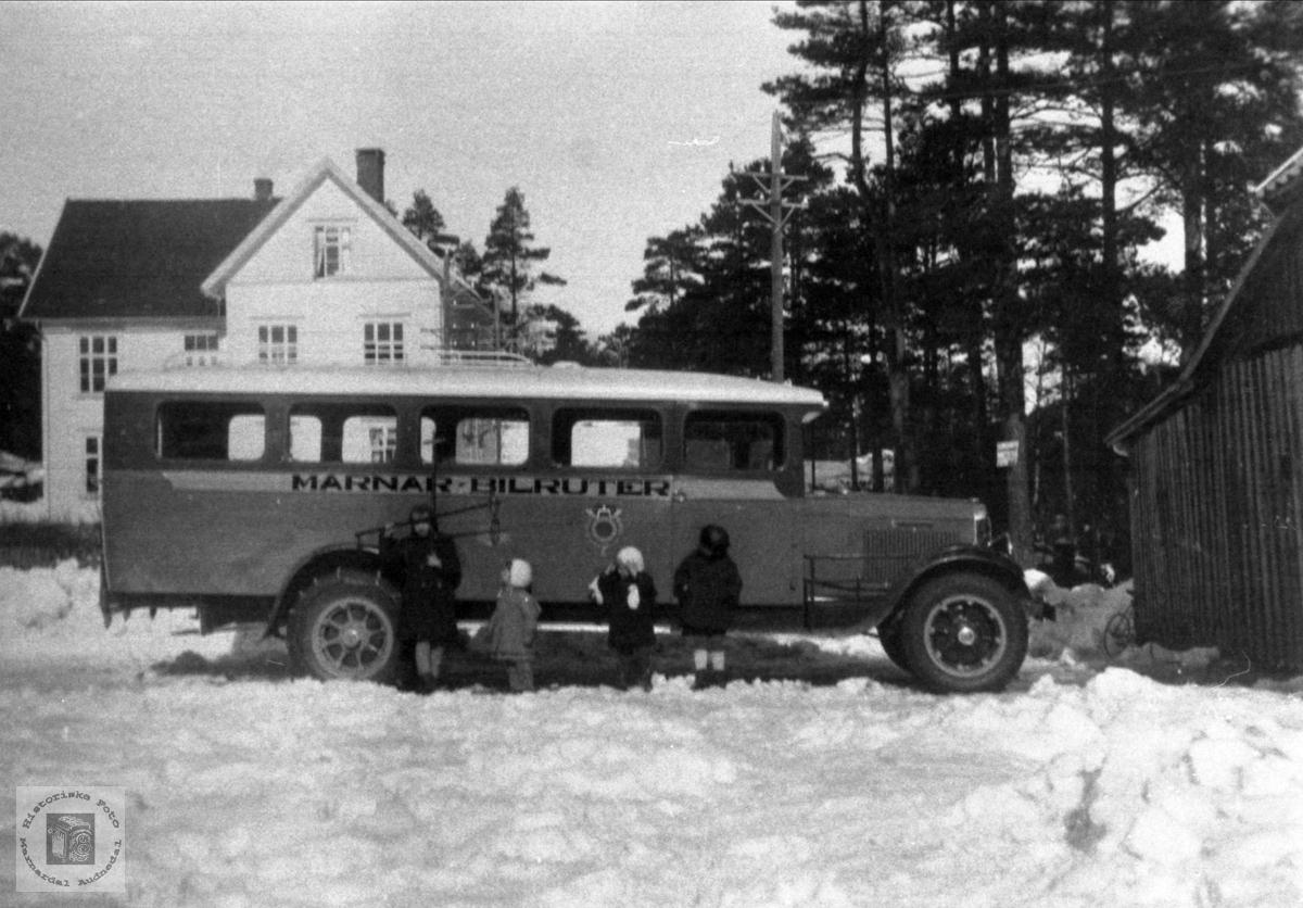 Reo buss kjøpt i 1933 med hydrauliske bremser, Marnar Bilruter