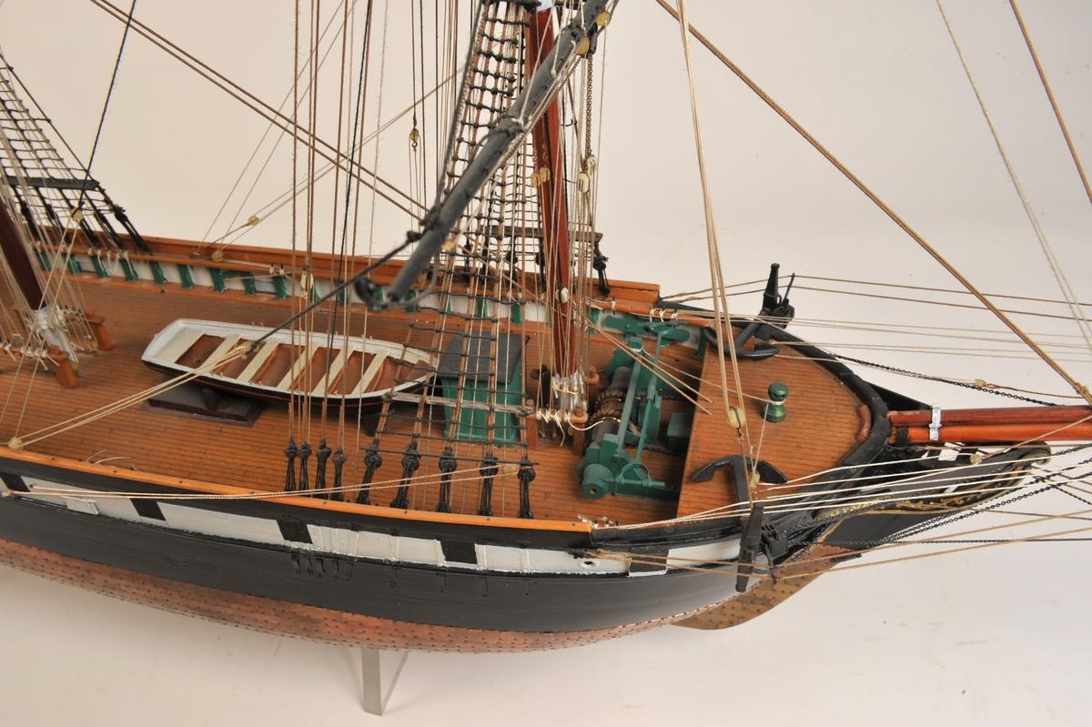 Fullrigger 'Gymer' bygget av Voigt på Trondhjems Skibsverft i 1848