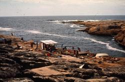 Marinearkeologene i feltet under utgravningen av  'Lossen'(b