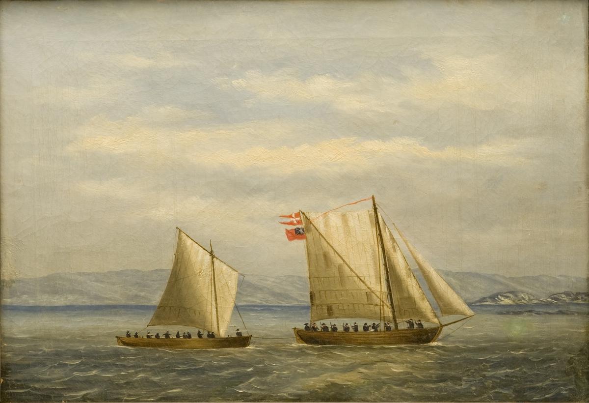 Engelsk orlogssjalupp The Hawk erobret av norsk fartøy ved Hvaler 16. desember 1812