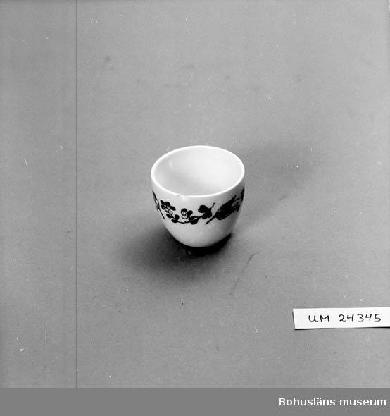 """594 Landskap BOHUSLÄN  Beige-vit med brun tryckt växtbård. Under till grönt tryck: """"161"""" (ev. """"191"""")."""