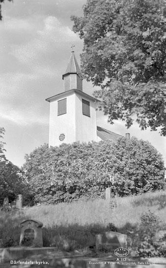 """Enligt AB Flygtrafik Bengtsfors: """"Bärfendal kyrkan Bohuslän"""".  ::"""