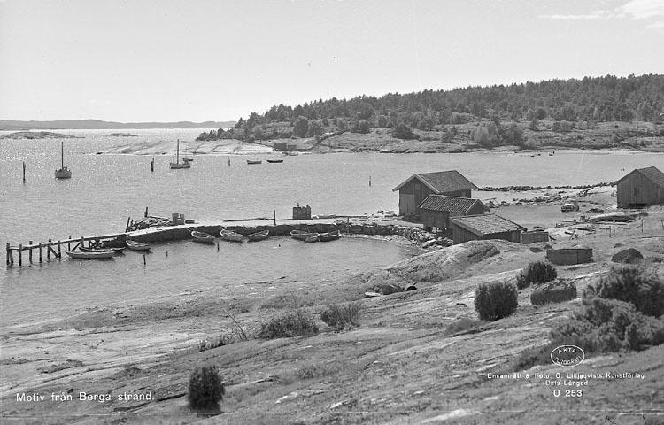 Berga brygga på Tjörn 1955
