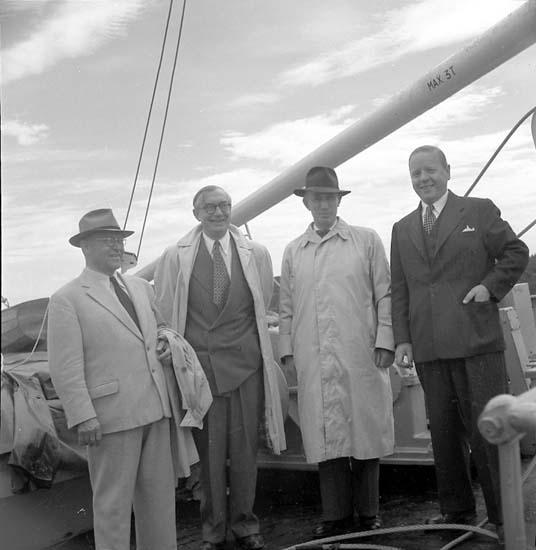 Leverans av fartyget 108 M/S Yngen, Uddevallavarvet 1948