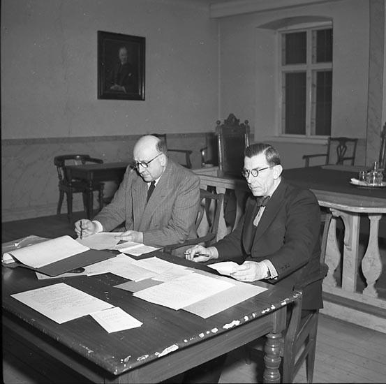 """Enligt notering: """"Luftskyddet 31/3 1947""""."""