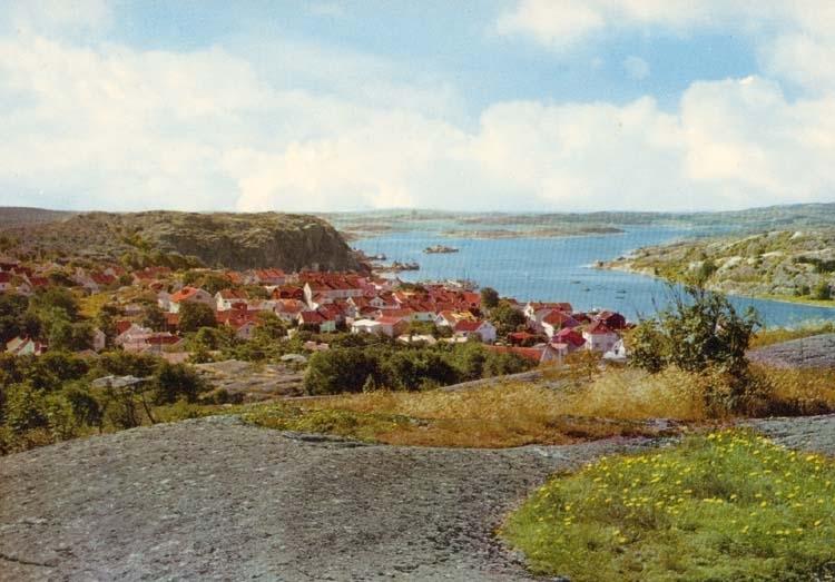 """Tryckt text på kortet: """"Grebbestad. """" """"Ultraförlaget A. B. Solna."""""""