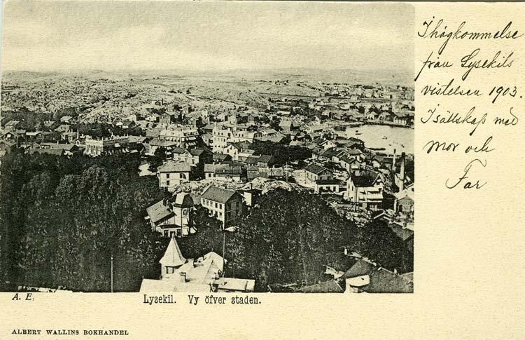 Lysekil, Vy över staden.