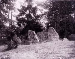 """Enligt text som medföljde bilden: """"Stendös i Brattås IV 14/7"""