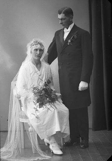 """Enligt fotografens journal nr 5 1923-1929: """"Pettersson, Gustaf, Ödsmål""""."""