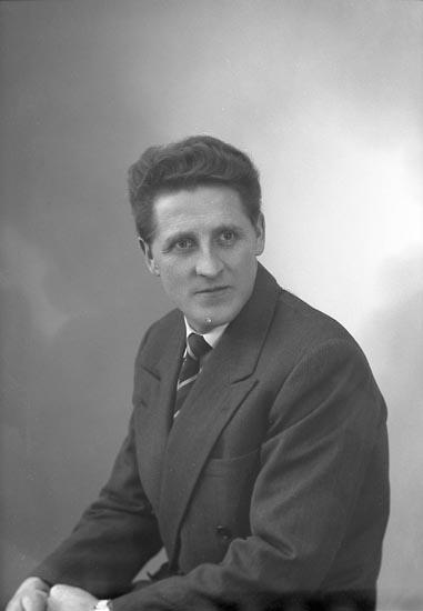 """Enligt fotografens journal nr 9 1958-: """"Ryberg, Herr John Box 209 Stora Höga""""."""
