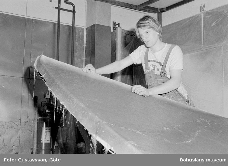 "Motivbeskrivning: ""Gullmarsvarvet AB, på bilden syns Arne Vejerbom."" Datum: 19801031"