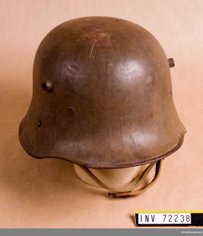 Grupp C I(överstruken) DIV.  Hjälm från tiden för första världskriget.