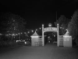 Ingången till Folkets Park, Uddevalla  1936