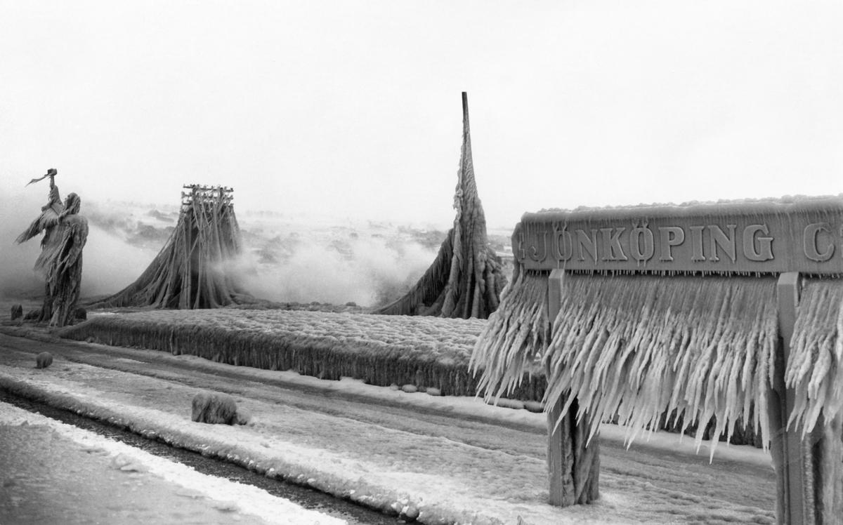I Jönköping vid Vättern, stormen den 15 januari 1929.