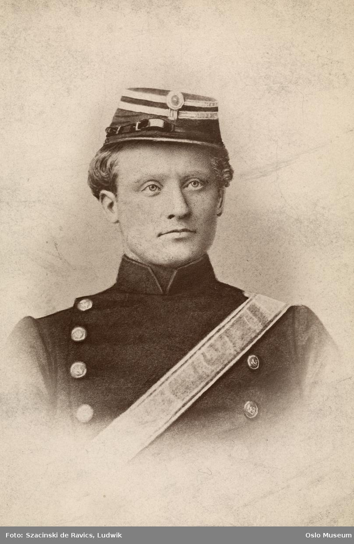 portrett, mann, brystbilde, militær, uniform