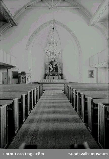 Alnö kyrka, interiör.
