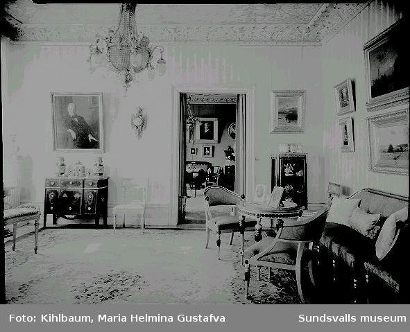 Interiör från Kubikenborgs Herrgård.