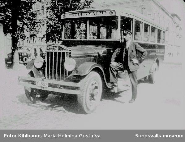 Linjebuss mot Södermalm