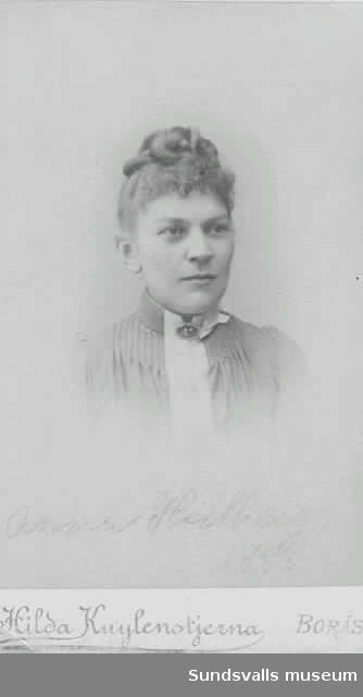Porträtt av Anna Hedberg.