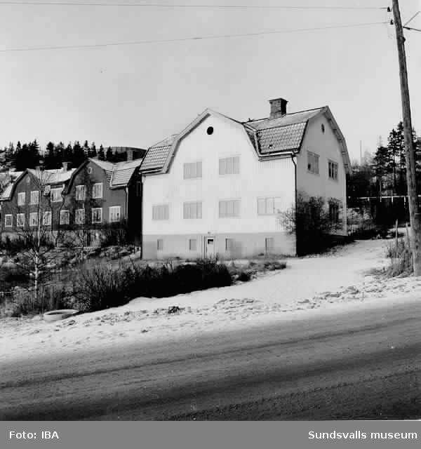 HSB-hus i kv Stubbrytaren, Ortviken, 14/11 1972