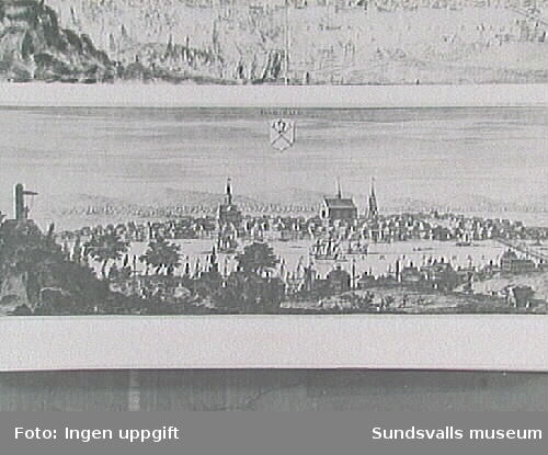 Ur Allhems Medelpads 127.Gravyr efter förlaga av Johan van den Aveelen i Suecia antiqua et hodierna. Plåten daterad 1700.