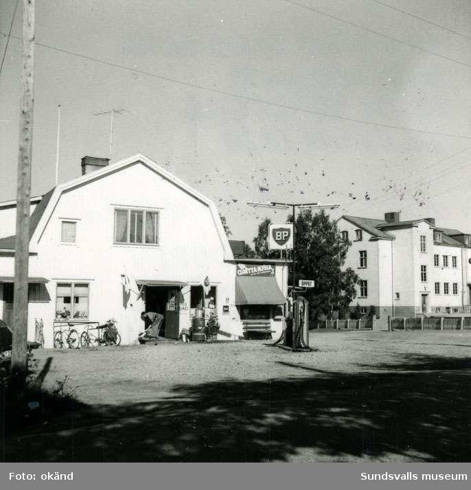 BP-stationen Alnö Vi, Brovägen.