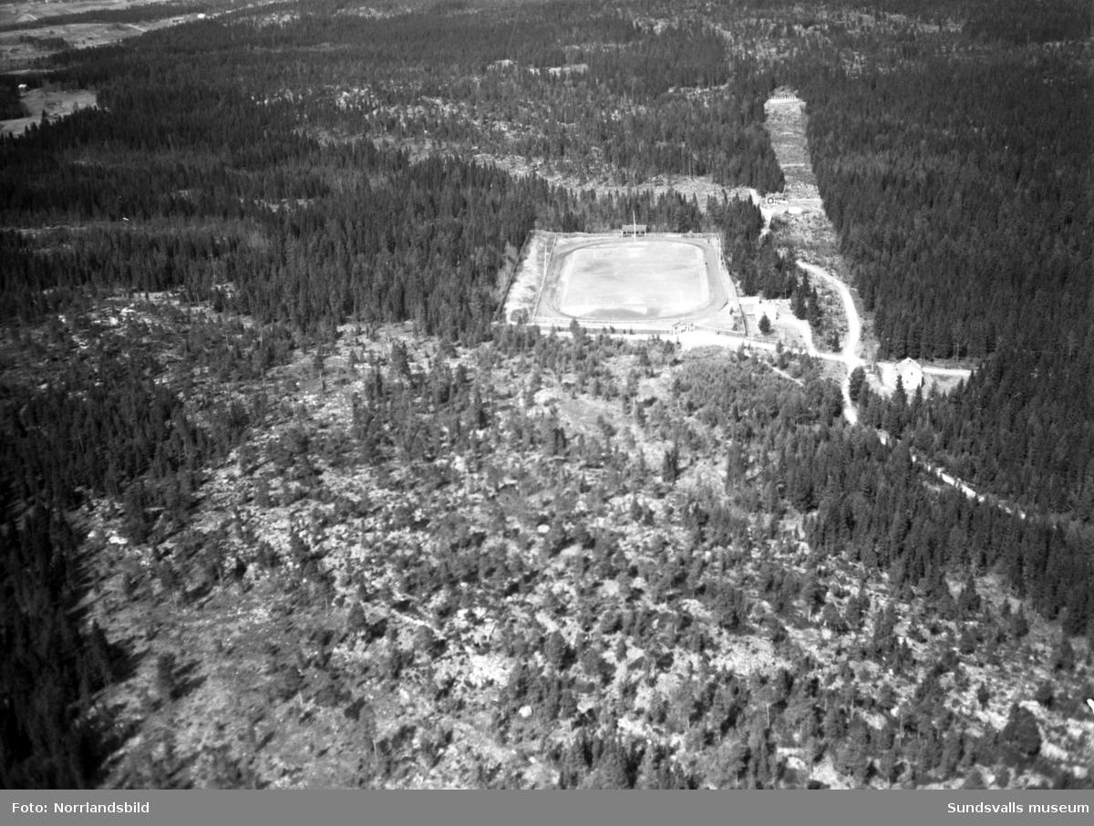 Flygfoto över Baldershovs idrottsplats.