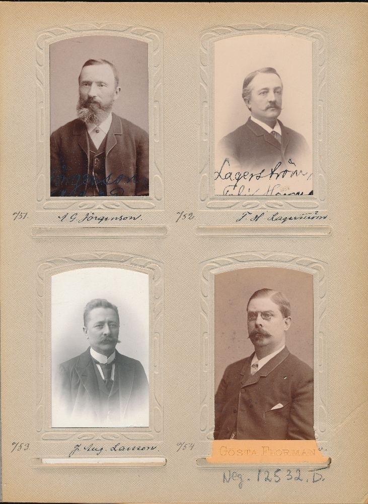 Porträtt av Felix Herman Lagerström, postmästare i Tierp 1902-1912.