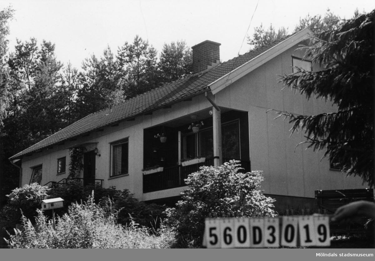 Byggnadsinventering i Lindome 1968. Gastorp 1:56. Hus nr: 560D3019. Benämning: permanent bostad och hundgård. Kvalitet: mycket god. Material: eternit. Övrigt: utanför tomten virke, bilskrot. Tillfartsväg: framkomlig. Renhållning: soptömning.