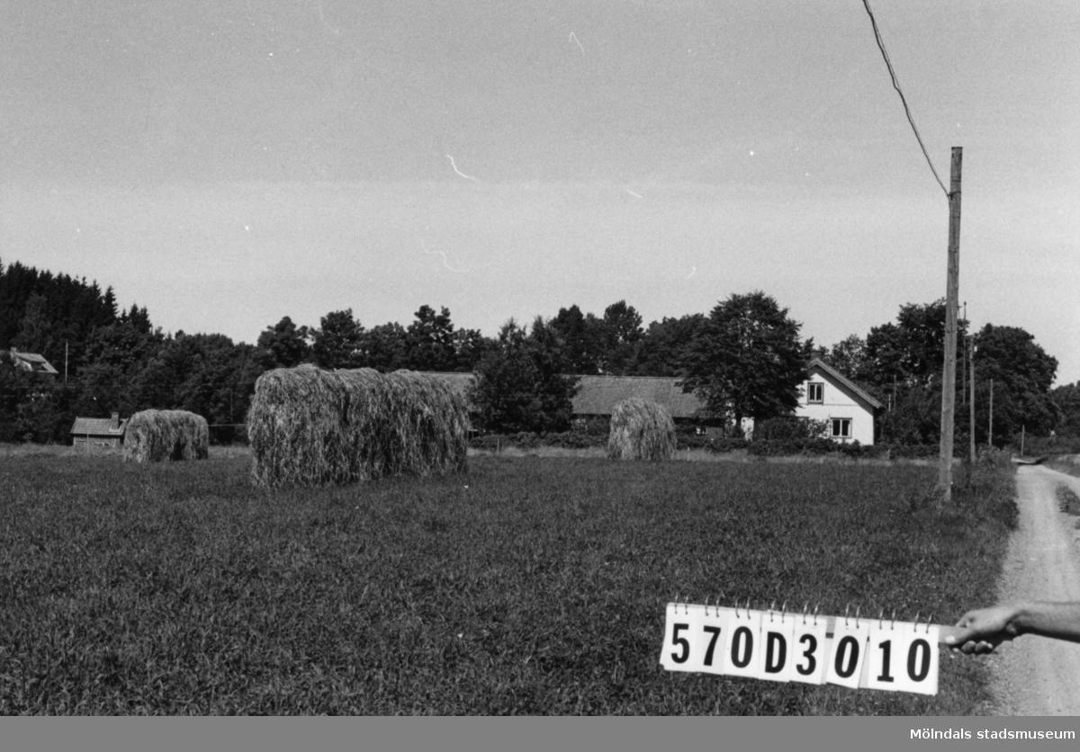 Byggnadsinventering i Lindome 1968. Dvärred 7:1. Hus nr: 570C4010. Benämning: permanent bostad, ladugård och två redskapsbodar. Kvalitet, bostadshus och redskapsbodar: god. Kvalitet, ladugård: mindre god. Material: trä. Tillfartsväg: framkomlig.