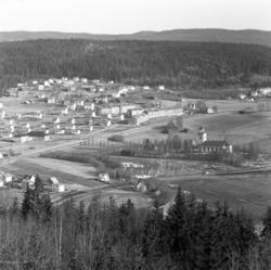 Vyer över Timrådalen, Vävland och kyrkan fotograferat från S