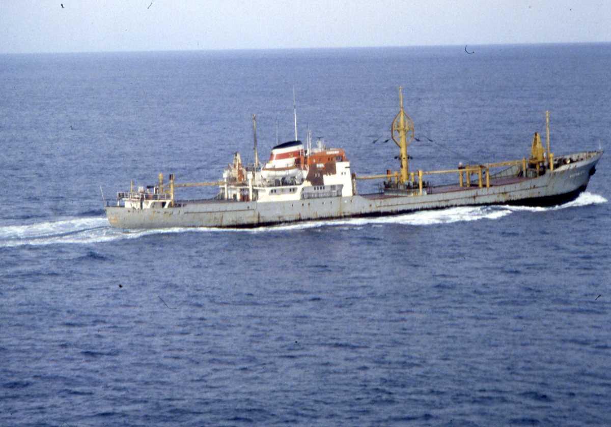 Russisk fartøy av Kotlasles - klassen. Trelastabåt.