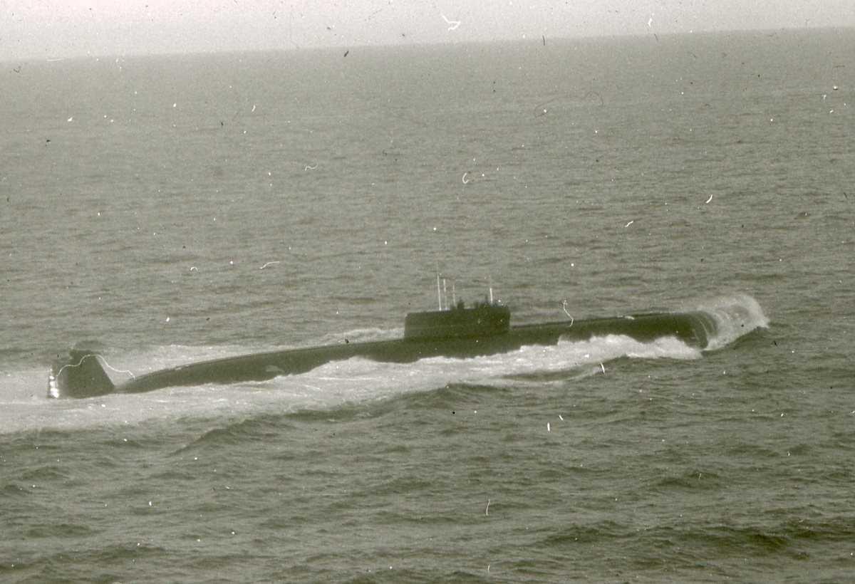 Russisk ubåt av Papa - klassen.