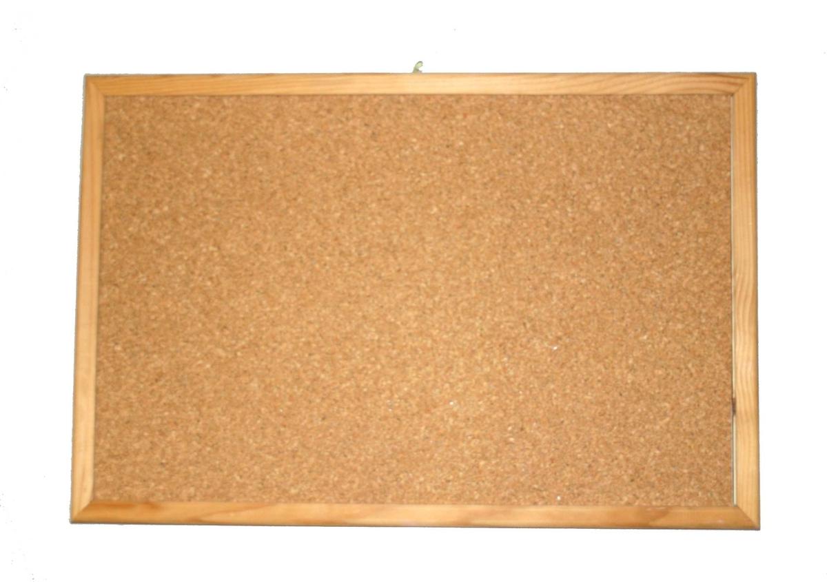 Rektanguler korktavle med treråme