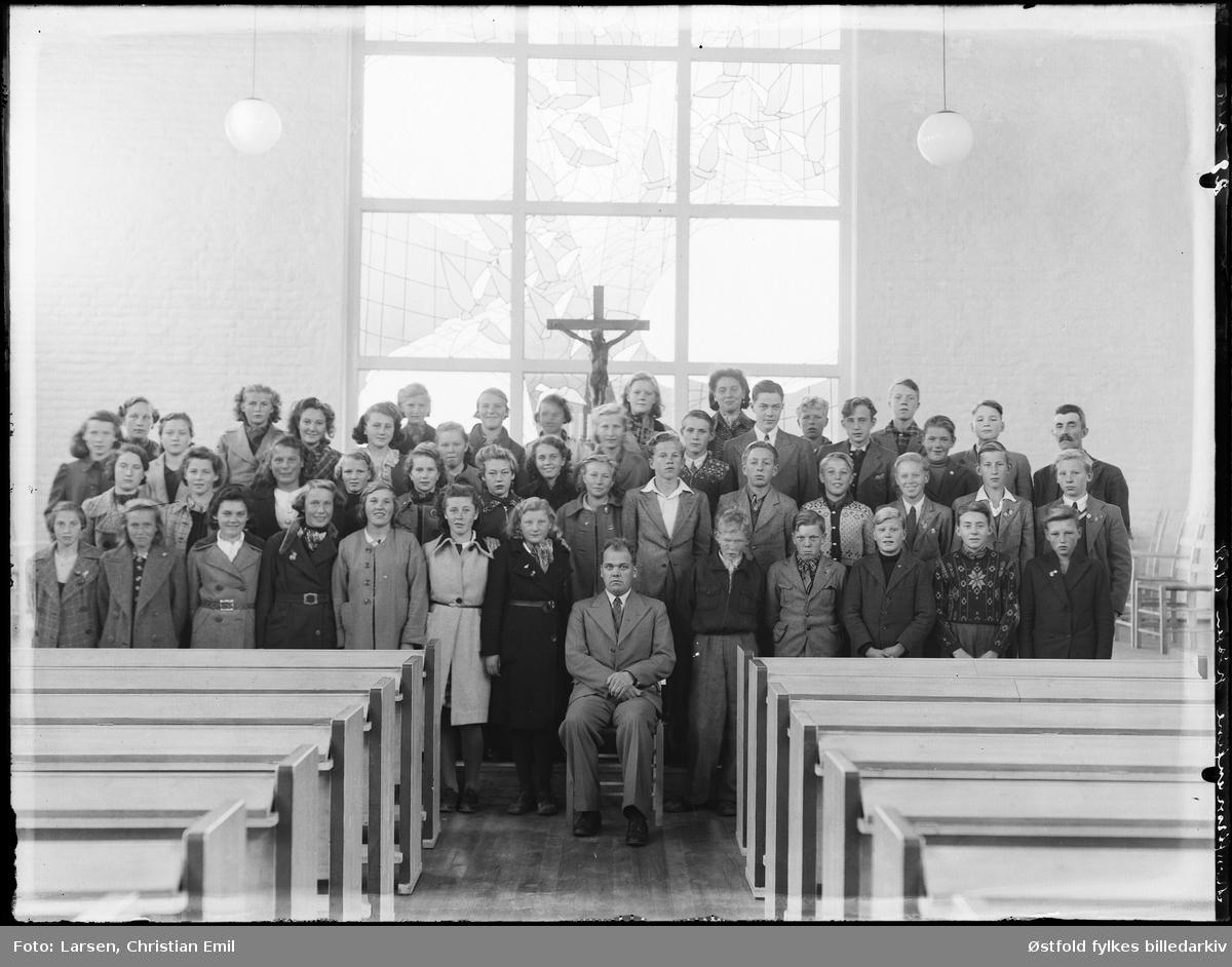 Konfirmanter høsten 1939. Ukjent kirke.