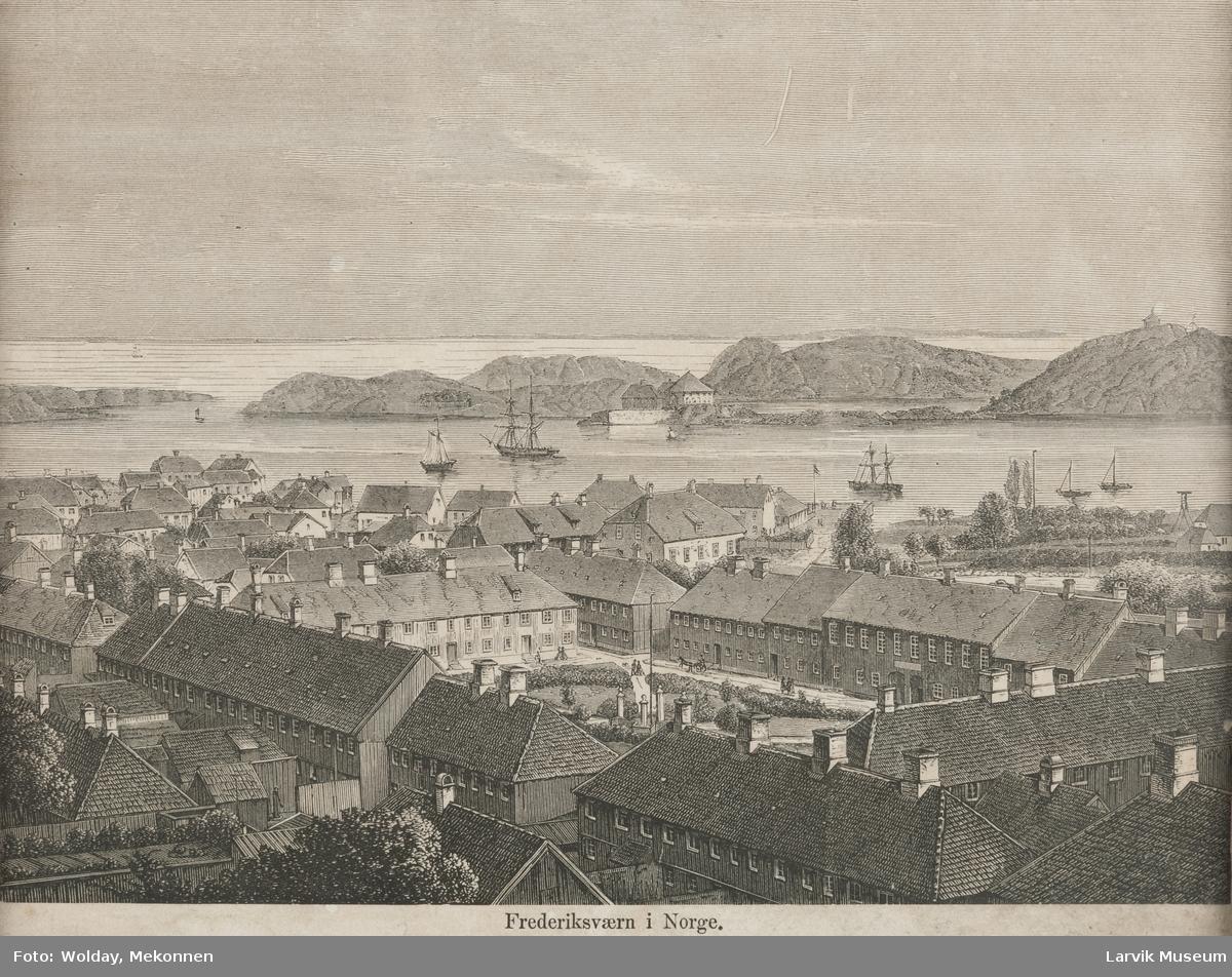 Frederiksværn før brannen omkring torget