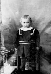 Portrett av ukjent barn fra Kolvereid