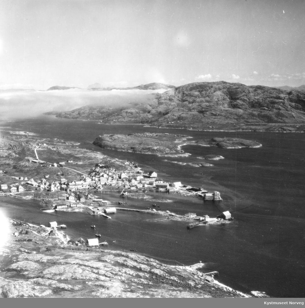 Rørvik sentrum, flyfoto