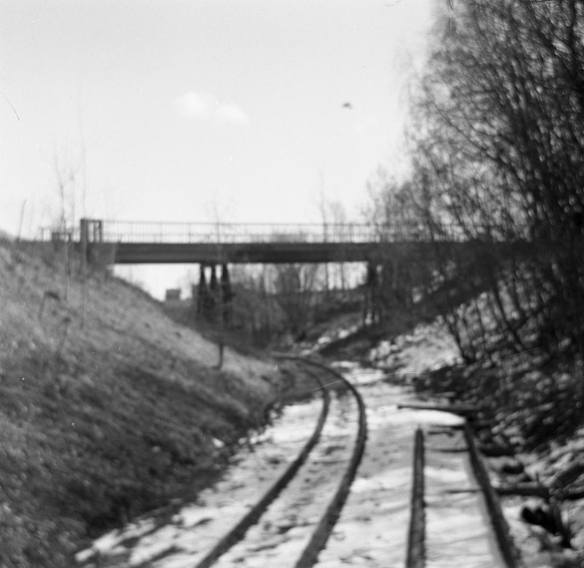 Tertittens spor ved Fyen og den gamle riksveibroen, før Tønsberg tunnel ble bygget.